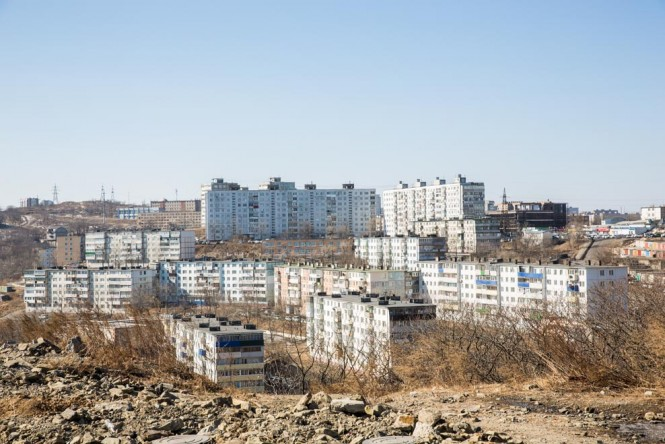 Soviet-era housing in Vladivostok