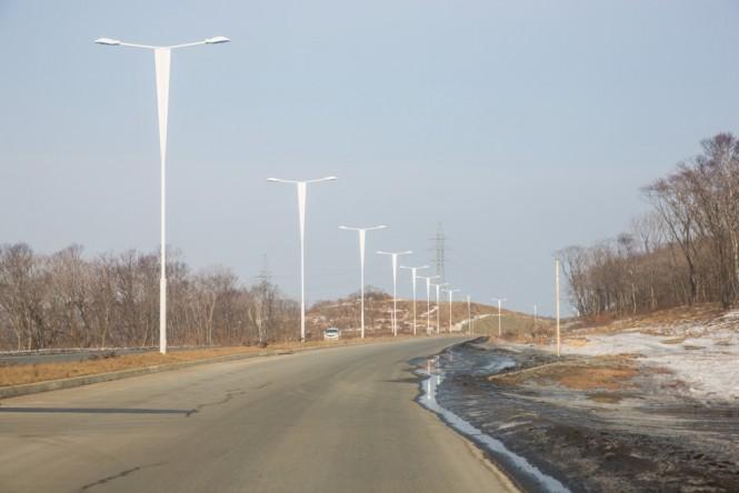 Vladivostok still needs new infrasture. This photo shows a new road on Russian Island.