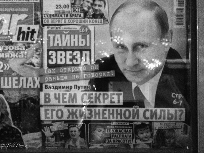 'What is the secret of his vitality?' reads this Russian paper.