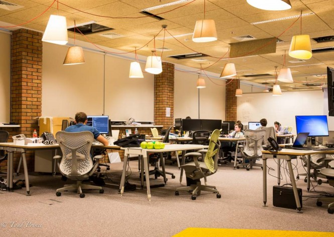 Open work space is a hallmark of Yandex, but not of most Russian companies.
